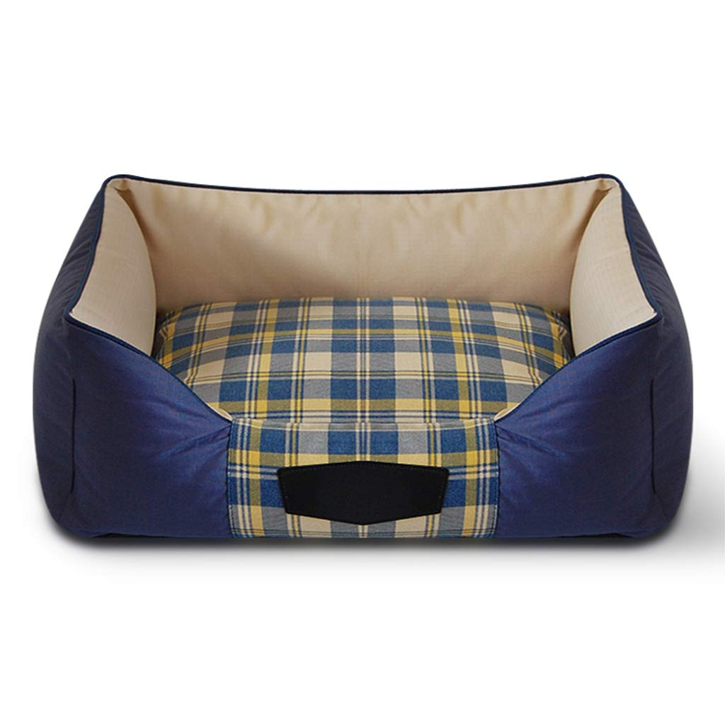 S Hxyan Kennel Dog Bed Pet Bed Removable And Washable Medium Size Large Cotton Canvas Encryption Oxford Cloth Cat Bed (Size   S)