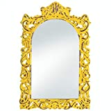 BESTChoiceForYou Frames Distressed Ornate Wall Decor Wood Home French Accent Plus Yellow