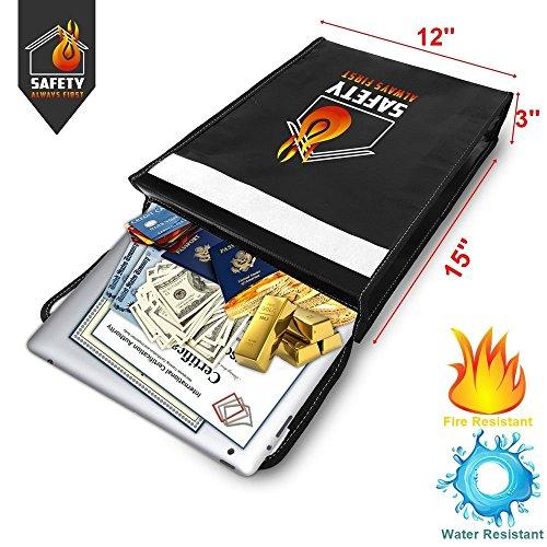 (ON SALE) XL Fireproof Document Bag & Waterproof Money Bag (15