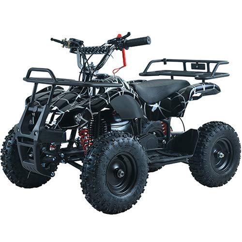 X-Pro Kids ATV 4 Wheelers 40cc Quads Kids Quad with Gloves, Goggle and Handgrip (Spider Black)