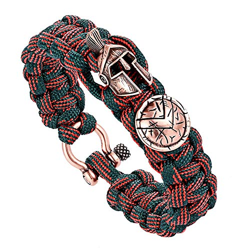 BEN NOBLE Men Bracelet Luxury Camping Outdoor Handmade Rope Bracelets Bangles Vintage Women - Dolphin Vintage Tone Gold