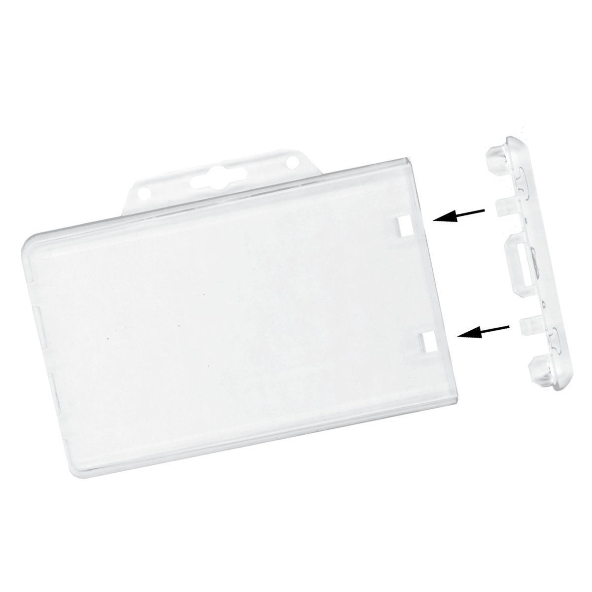 Clear Horizontal Permanent Locking Plastic Card Holder Sold Individually Specialist ID SPID-6040