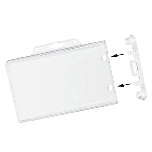 clear horizontal permanent locking plastic card holder sold individually - Plastic Card Holder