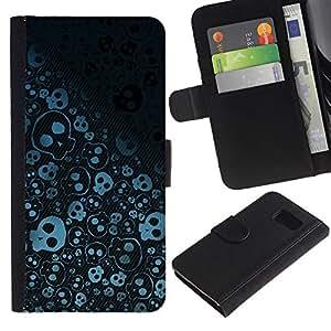 All Phone Most Case / Oferta Especial Cáscara Funda de cuero Monedero Cubierta de proteccion Caso / Wallet Case for Sony Xperia Z3 Compact // Wallpaper Skulls Skeleton Drawing Sketch
