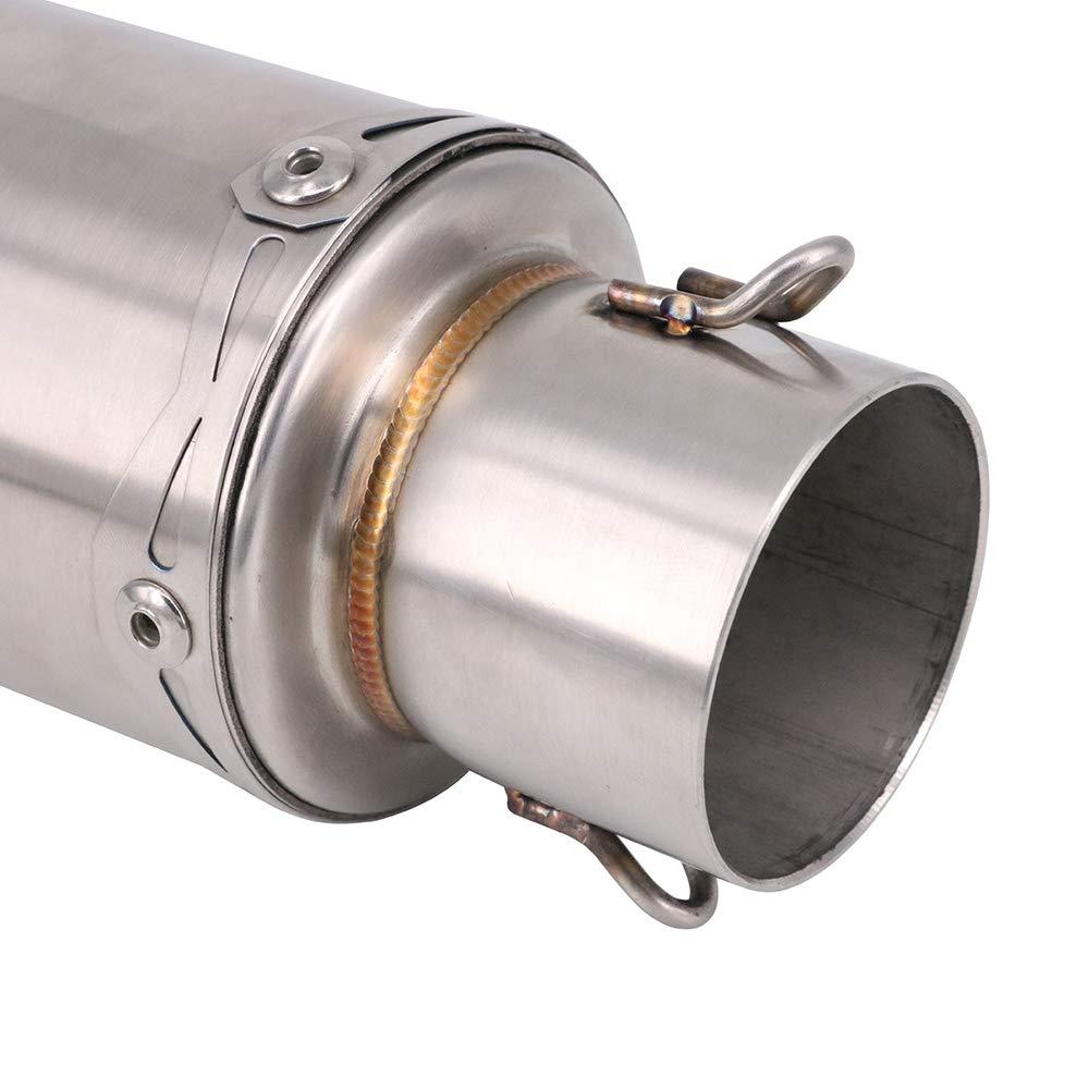 JFG RACING Escape Universal Moto - Tubo de Escape Universal ...