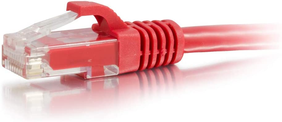 C2G 50810 15FT CAT6A SNAGLESS UTP Cable-RED