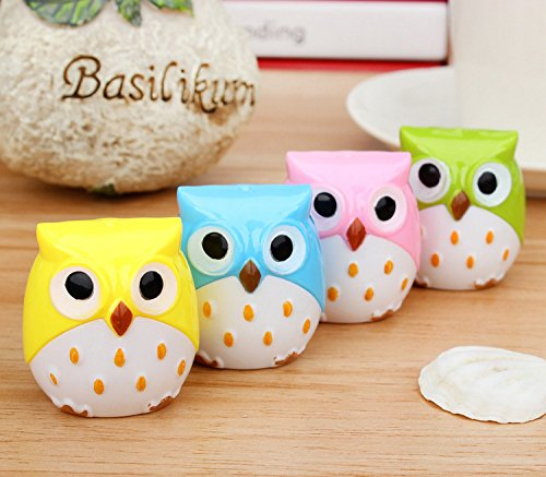 (Kawaii Owl Pencil Sharpener Cutter Knife Promotional Gift Stationery 4pcs/lot)