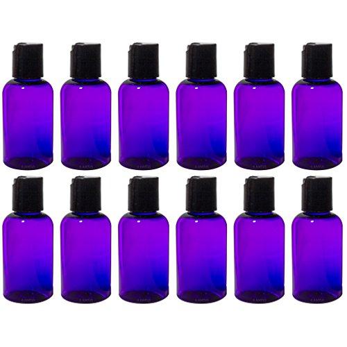 Purple 2 oz Boston Round PET Bottles