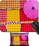 4 Inch Egg Crate Foam Pad MSD Mouse Wrist Rest and Small Mousepad Set, 2pc Wrist Support design: 30423162 colorful crate as a decoration background