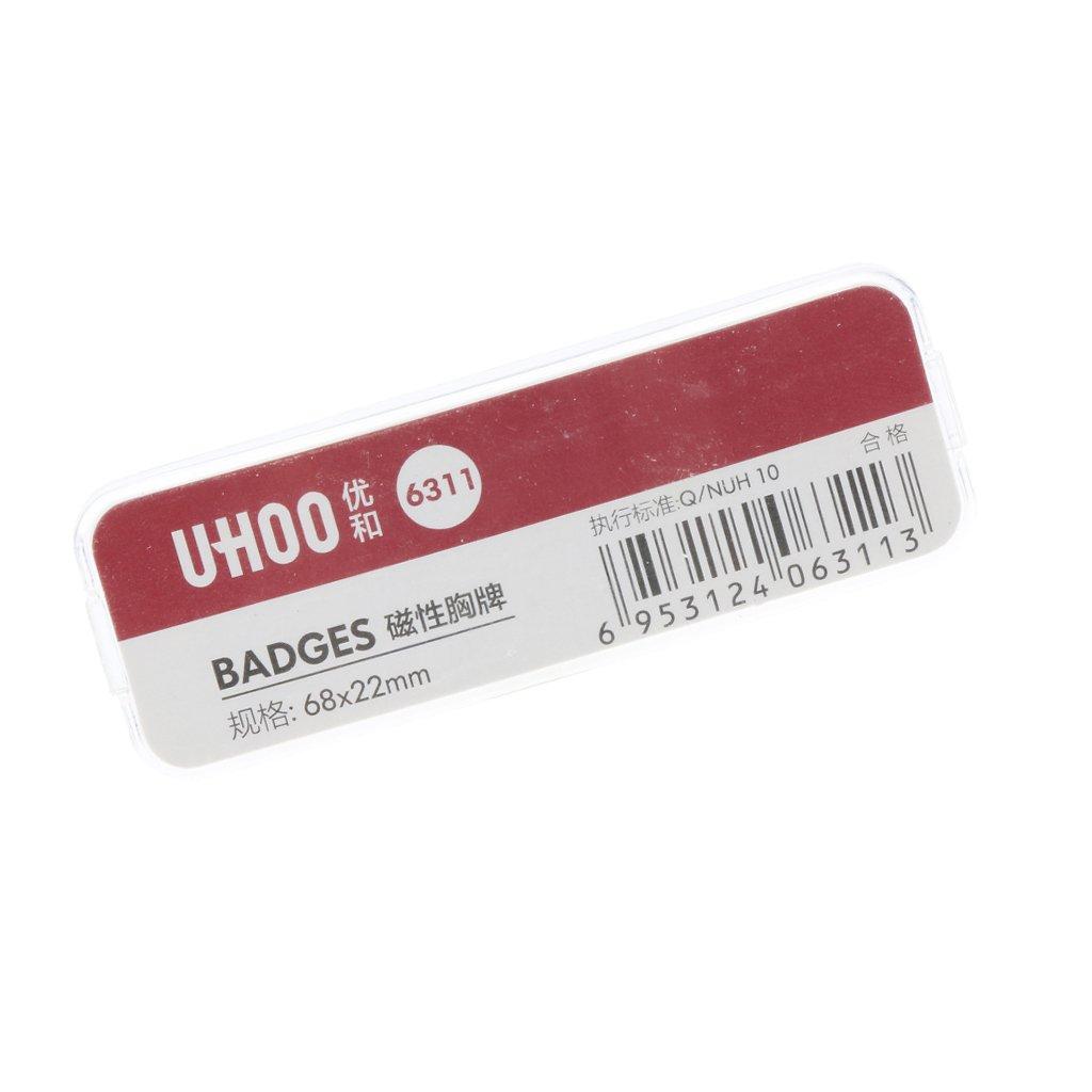Baoblaze Badges Nominatifs Badge D'identification Personnalisé D'employé Signe de Nom - L