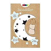 Nuroo The Swaddler One Size For All Babies, Goodnight Stars 3-in-1 Swaddler in White/Navy