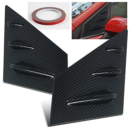 - ModifyStreet 15-17 Subaru WRX/STI Front Side Window Louvers - Carbon Fiber Look
