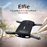 JJRC H37 ELFIE Pocket Selfie Drone WIFI FPV Altitude Hold Mode Portable RC Quacopter With 0.3MP Camera RTF Helicopter- Black