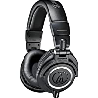 Audio Technica ATH-M50X On-Ear 3.5mm Wired Professional Headphones (Black)