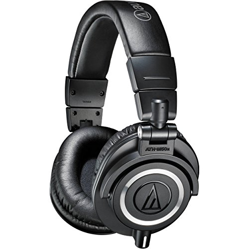 Audio-Technica ATH-M50x Professional Monitor Headphones, Black by Audio-Technica