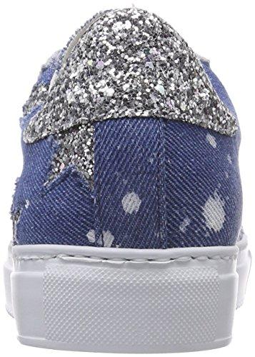 Stokton Sneaker, Scarpe da Ginnastica Basse Donna Multicolore (Jeans/ Glitter)