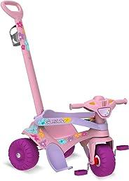 Triciclo Motoka Passeio e Pedal Gatinha, Bandeirante, Rosa