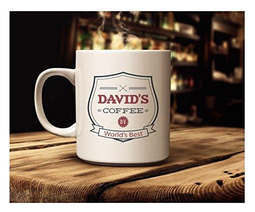 David's Mug | Mug for Dad | Custom Coffee Mug | Kids Gift for Dad | Available in 11 oz 15 oz sizes | Coffee Tea Mug | Gift for - Ct Fair Kids