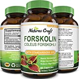 Natures Craft's Pure Forskolin Extract for Weight Loss Supplement Powerful Antioxidant - Maximum Strength Belly Buster Healthy Weight Management Get Lean & Trim For Men and Women