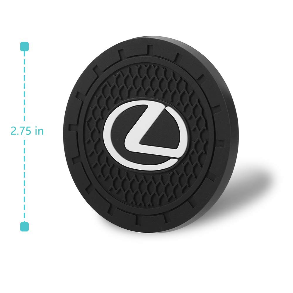 Auto sport 2.75 Inch Diameter Oval Tough Car Logo Vehicle Travel Auto Cup Holder Insert Coaster Can 2 Pcs Pack Chevrolet