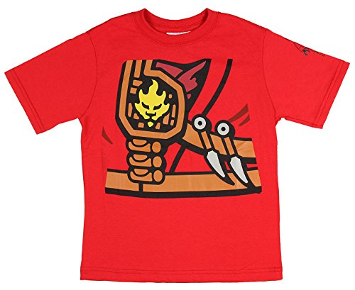 Ninja Ninjago Red Lego (Lego Ninjago Kai Zukin Robe Boys Costume T-Shirt (Kai,)