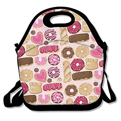 Amazon Com Valentines Day Donuts Lunch Bag With Shoulder Strap