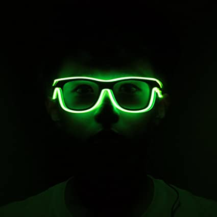 53934c3d62 Image Unavailable. Image not available for. Color  Lineyun LED Light UP EL  Glasses Helloween Concert Party Flashing Glasses Eyewear Rave Costume Party  DJ