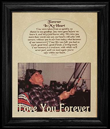 8x10 forever in my heart photo poetry black frame holds a landscape 5x7 picture