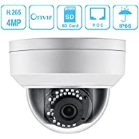 IP PoE Dome Security Camera, 4 Megapixels 2560x1440 HD Unitech 4MP WDR Vandal-resistant Network Dome ip Camera IK10 3.6mm Lens IP67 Weatherproof Indoor/ Outdoor Dome Outdoor & Indoor IR Night Vision