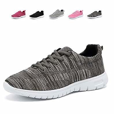 CIOR Women Running Shoes Men Fashion Mesh Sport Lightweight Walking Sneakers,WPS,Gray,39
