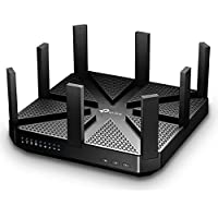 TP-Link AC5400 Wireless Wi-Fi MU-MIMO Tri-Band Router – Powerful Wi–Fi for Gaming and 4K Streaming, Comprehensive Antivirus & Security, Works with Alexa & IFTTT (Archer C5400) (Certified Refurbished)