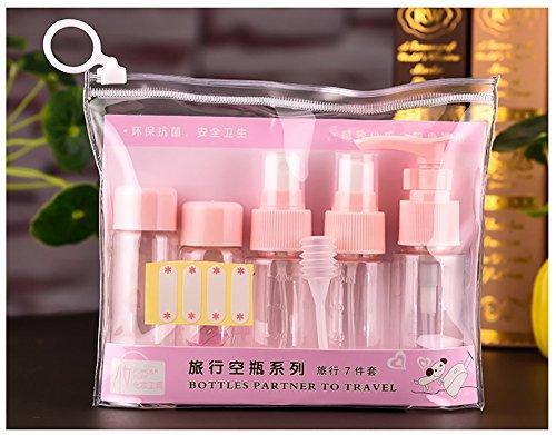 viaggio a spray Rosa bottiglia contenitore Tukistore portatile viaggio perdite pezzi liquido prova set cosmetici trucco plastica 2 7 bottiglia articoli per bottigli set toeletta di da portatile dimensioni twq6FHq