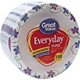 Great Value Multi-Purpose Everyday Disposable Premium Paper Plates - 140 count - 10 1/16 Inch