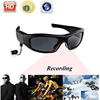 JOYCAM Bluetooth Sunglasses with Camera Polarized UV400 Glasses HD 720P Video Recording Eyewear with Speaker for Outdoor Sports
