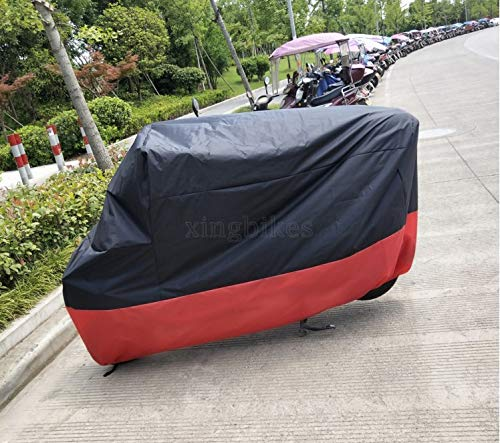 L Red & Black Motorcycle Cover For Honda CBR600F2 CBR600F3 CBR600F4 CBR600F4i (Motorcycle Cover Cbr600f4i)