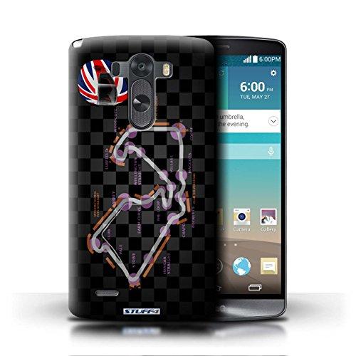 Kobalt® Imprimé Etui / Coque pour LG G3/D850/D855 / UK/Silverstone conception / Série 2014 F1 Piste