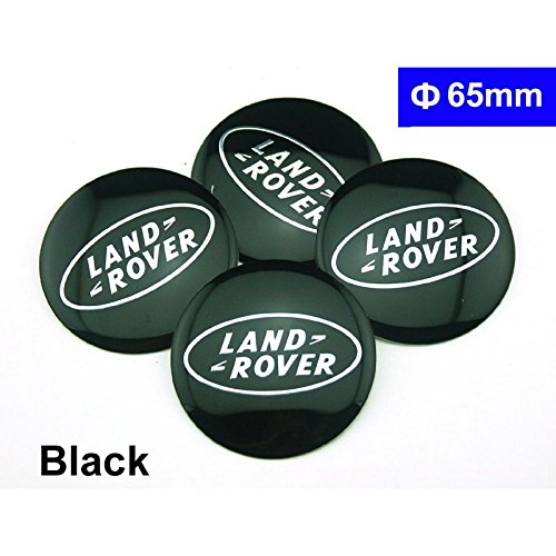 4pcs D077 65mm Car Styling Accessories Emblem Badge Sticker Wheel Hub Caps Centre Cover Black LAND ROVER Range Rover Discovery 4 Freelander 2 Evoque Benzy