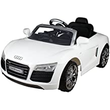 Costzon White Audi Kids 12V Electric Ride On Car With MP3 RC Remote Control Car