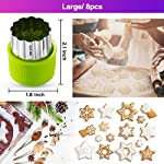 Gimars Large + Small Stainless Steel Cookie & Vegetable & Fruit Cutters Shapes Sets, Mini Cookie Stamp Mold, Sandwich Cutters for Kids Baking, Bento Box and Food Decoration Tools for Kitchen 8 ? 16 PCS 2 Size (8 large : 1.8 in x 2.1 in & 8 small : 1.2 in x 1.65 in.) ¡°One cookie to one kid¡± bite size deep shape mini cookie cutters for choices - The large cookie cutters are perfect to make bite size mini cookie,spritz cookies, decorations for cake, pie crust, gum paste work, craft projects, fondant cutouts,Pastry, mini-tart, etc. The small cookie cutters are great to cut shapes for kids lunch bento box, fruit and vegetable shapes,fruit platter, drinks garnishes etc ? Thicker non rusting stainless steel cookie cutters with fine welding seams to cut food clean without bending or falling apart - Thicker high quality package of food grade stainless steel and plastic silica gel material, not contain BPA. These kids mini cookie cutters are built to last for a long time and does not rust after cleaning. Sturdy and sharp to cut shapes clean with ease. These tiny cookie cutters shapes are very easy to use ? Thicker non rusting stainless steel cookie cutters with fine welding seams to cut food clean without bending or falling apart - Thicker high quality package of food grade stainless steel and plastic silica gel material, not contain BPA. These kids mini cookie cutters are built to last for a long time and does not rust after cleaning. Sturdy and sharp to cut shapes clean with ease. These tiny cookie cutters shapes are very easy to use