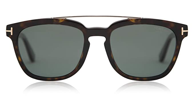 Amazon.com: Tom Ford anteojos de sol 0516 Holt 52R Dark ...