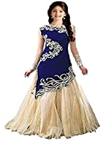 Fashion Dream Girls' Velvet & Net Semistitched Lehenga Choli (&!8-12 Year Baby Girls)