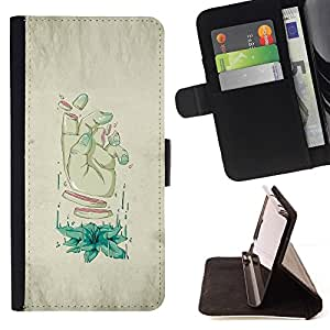 Momo Phone Case / Flip Funda de Cuero Case Cover - Rodajas Mano - Arte Weird - Sony Xperia M5