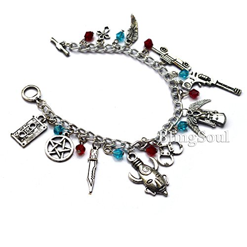 Supernatural Bracelet charms- Chevy Impala, Colt revolver, & Devil Trap Logo (Chevy Charm)