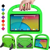BMOUO Case for All New F i r e 7 2017 - Light Weight Shock Proof Handle Kid –Proof Cover Kids Case for All New F i r e 7 Tablet, Green