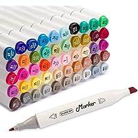 Shuttle Art 50 Colors Dual Tip Art Markers,Permanent...