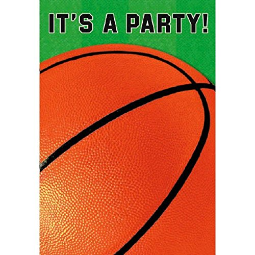 Basketball birthday invitation amazon nifty 50s theme party postcard invitations with seals set 8 pieces made from paper filmwisefo
