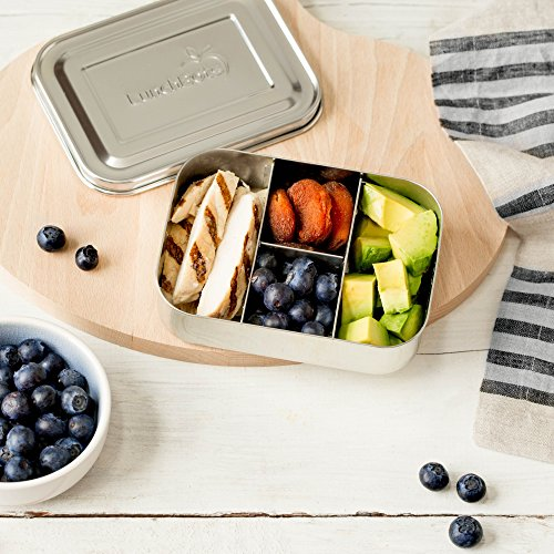 LunchBots Small Protein Packer Snack Container - Mini Stainless Steel Food Box With Portion Control Sections - Great for Nuts, Meat, Cheese and Finger Foods - Eco-Friendly, Dishwasher Safe and Durable by LunchBots (Image #3)