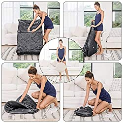OppsDecor Portable Steam Sauna, 2L Personal Therapeutic Sauna Home Spa for Weight Loss Detox Relaxation Slimming,One Person Sauna with Remote Control,Foldable Chair,Timer(US Plug)