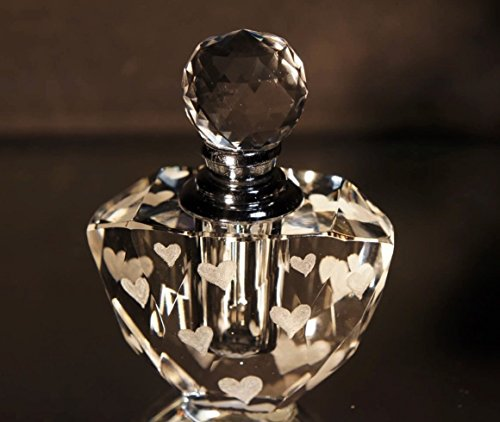 Mini Crystal Perfume Bottle, Hearts