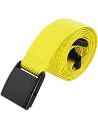Nylon Belts for Men,Solid Color Webbing Outdoor Tactical Belts Plastic Buckle